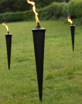 Oil garden torches from Gloucestershire furniture hire